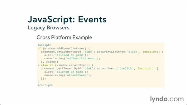 Using events with old browsers: JavaScript: Events