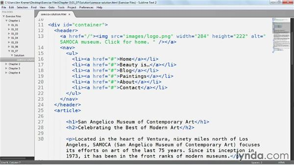 Solution: Updating a page with HTML5 semantic tags: Web Semantics