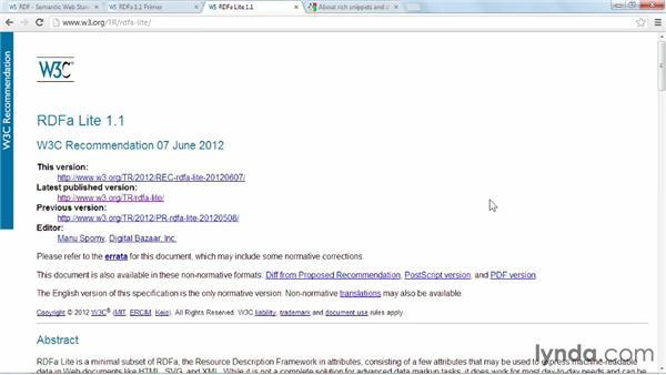 Understanding RDF, RDFa, and RDFa Lite: Web Semantics