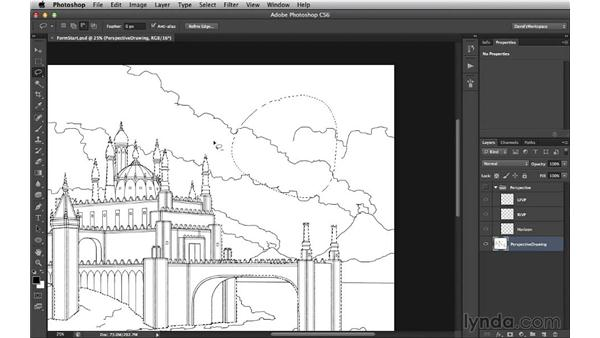 Selecting the silhouette: Digital Matte Painting Essentials 3: Tone
