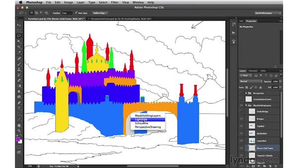 Loading selections from mask-holding layers: Digital Matte Painting Essentials 3: Tone
