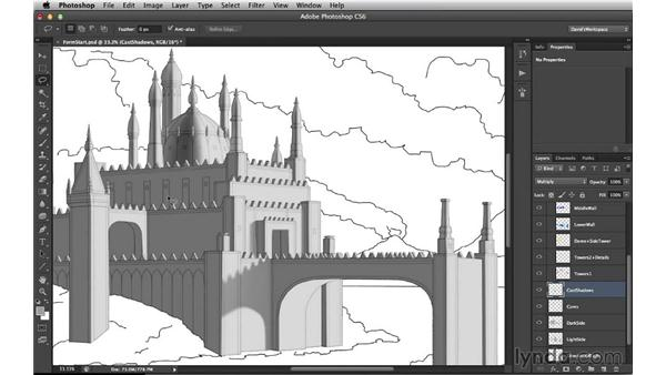 Looking at shaped shadows: Digital Matte Painting Essentials 3: Tone