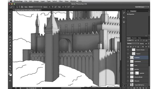 Adding a little ambient occlusion: Digital Matte Painting Essentials 3: Tone