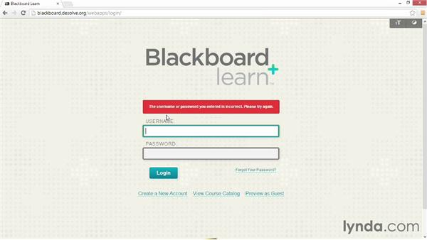 Logging in to Blackboard: Blackboard Essential Training