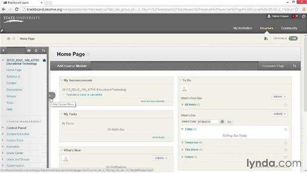 Renaming, reorganizing, and deleting: Blackboard Essential Training