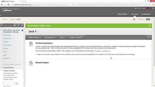 Attaching files: Blackboard Essential Training