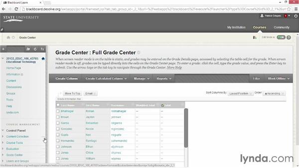 Optimizing the Grade Center: Blackboard Essential Training