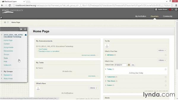 Creating group assignments and assigning grades: Blackboard Essential Training