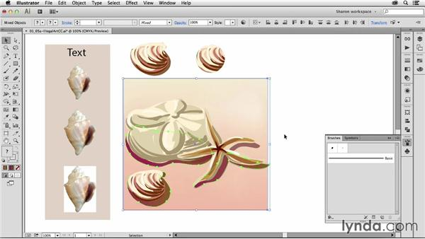 Understanding what can and can't be part of a brush: Artistic Painting with Illustrator: Object-Creation Brushes