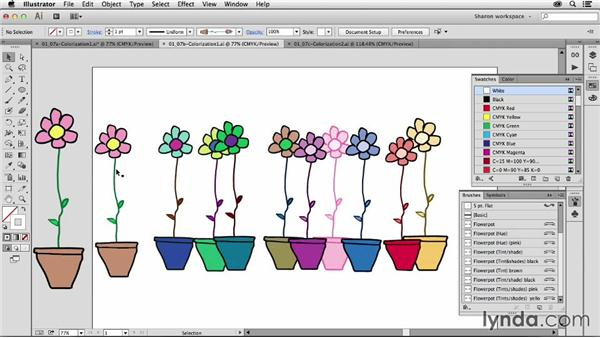 Exploring colorization options: Artistic Painting with Illustrator: Object-Creation Brushes