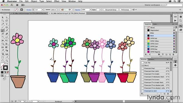 Recovering original colors after colorizing: Artistic Painting with Illustrator: Object-Creation Brushes