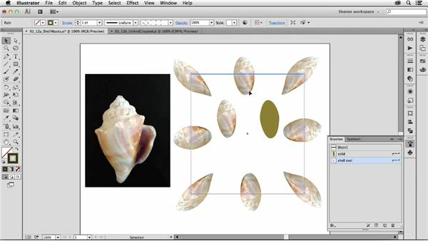 Prepping raster content in Photoshop first: Artistic Painting with Illustrator: Object-Creation Brushes