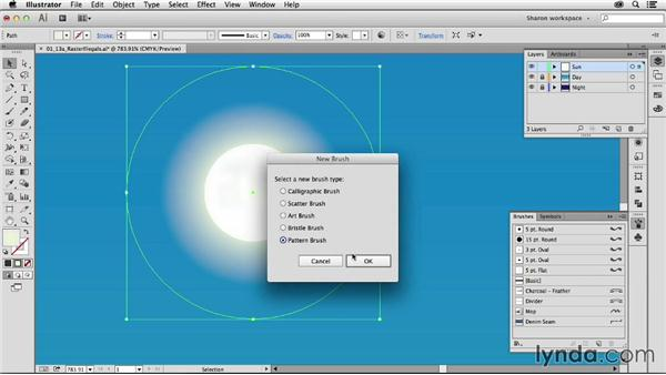 Rasterizing images in Illustrator: Artistic Painting with Illustrator: Object-Creation Brushes