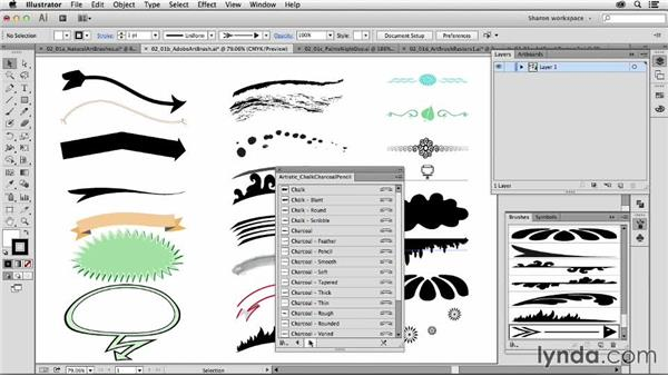 Identifying what an object-creating brush is: Artistic Painting with Illustrator: Object-Creation Brushes