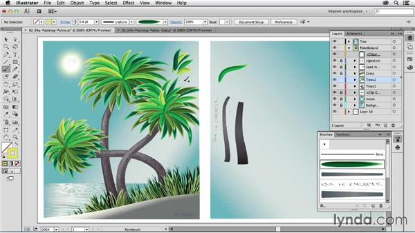 Painting with object-creating art brushes: Artistic Painting with Illustrator: Object-Creation Brushes