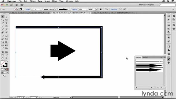 Setting the scale of a brushstroke: Artistic Painting with Illustrator: Object-Creation Brushes
