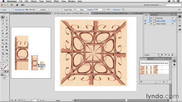 Overview of the automatic corner options: Artistic Painting with Illustrator: Object-Creation Brushes
