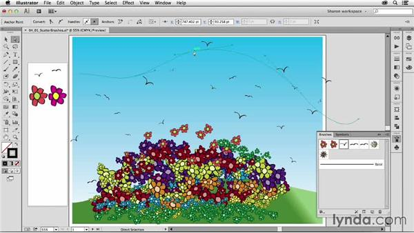 Introducing scatter brushes: Artistic Painting with Illustrator: Object-Creation Brushes