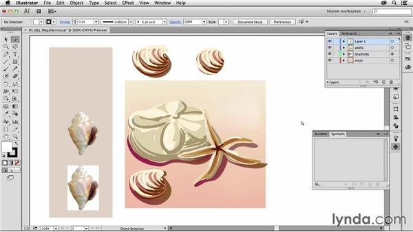 Making and placing symbol instances: Artistic Painting with Illustrator: Object-Creation Brushes
