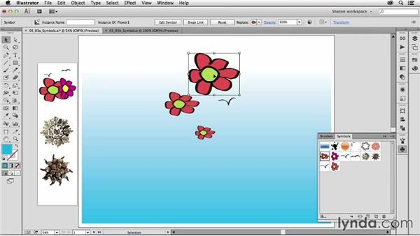 Editing symbols and going into isolation mode: Artistic Painting with Illustrator: Object-Creation Brushes