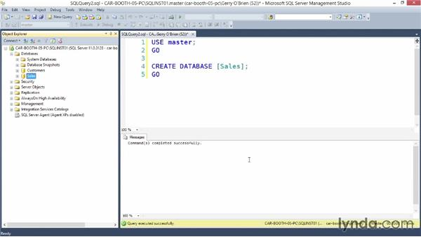Creating a database using Transact-SQL: Installing SQL Server 2012