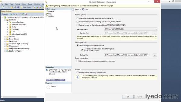 Restoring a database: Installing SQL Server 2012