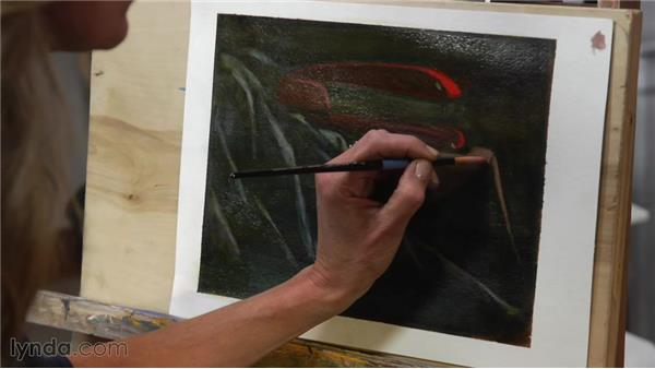 Establishing temperature and contrast using glazes: Artist at Work: Creating a Visual Hierarchy
