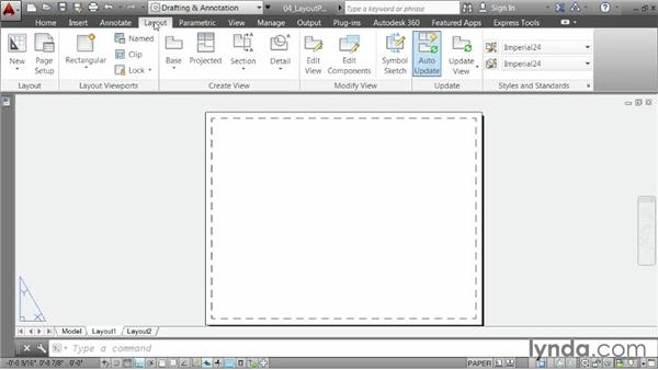 Creating a layout, part one: Choosing paper size: AutoCAD 2014 Essentials: 06 Sharing Drawings with Others