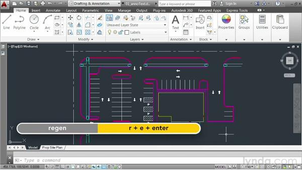 Using the Annotative property to size text: AutoCAD 2014 Essentials: 06 Sharing Drawings with Others