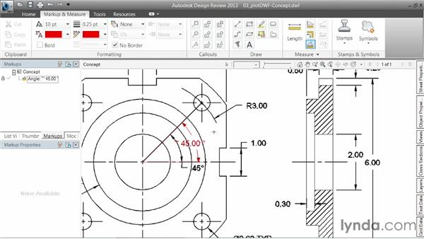 Plotting to the Design Web Format (DWF): AutoCAD 2014 Essentials: 06 Sharing Drawings with Others