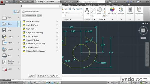 Sending drawings via email: AutoCAD 2014 Essentials: 06 Sharing Drawings with Others