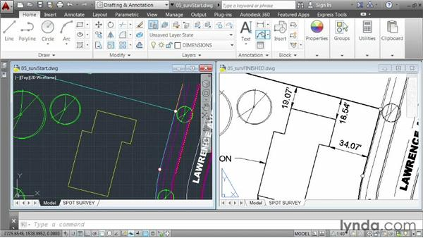 Demo: Creating a spot survey exhibit: AutoCAD 2014 Essentials: 06 Sharing Drawings with Others