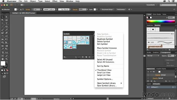 Exploring the Symbols panel: Using Symbols in Illustrator