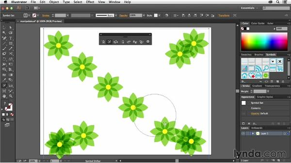 Adjusting the space between symbols: Using Symbols in Illustrator