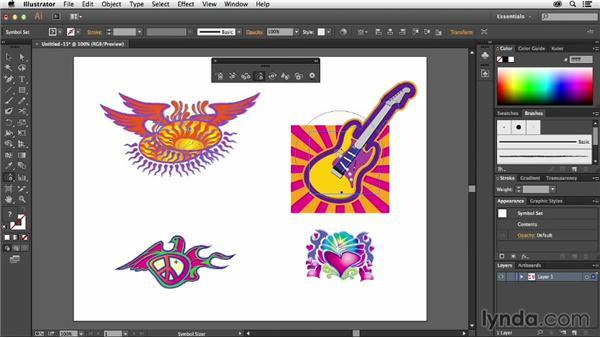 Resizing symbols within a set: Using Symbols in Illustrator
