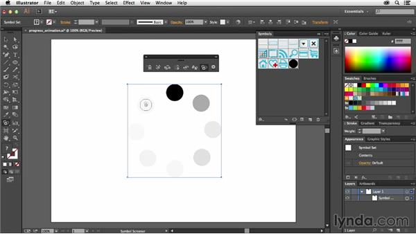 Adjusting symbol transparency: Using Symbols in Illustrator
