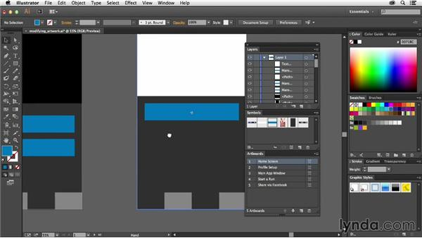 Modifying artwork across all pages: Using Symbols in Illustrator