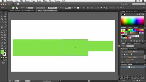 Designing a navigation bar: Using Symbols in Illustrator