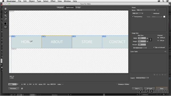 Exporting image states using symbols: Using Symbols in Illustrator