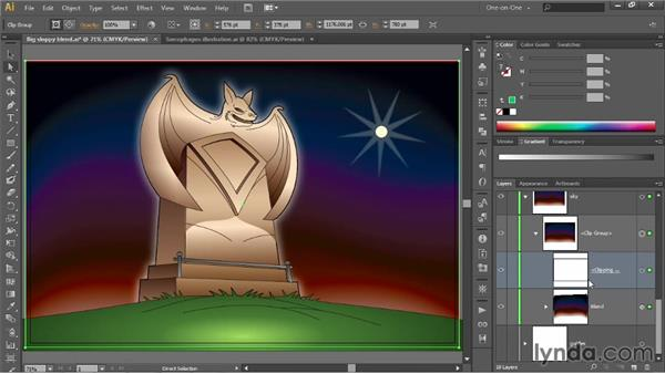 Establishing a clipping mask: Illustrator CC 2013 One-on-One: Advanced
