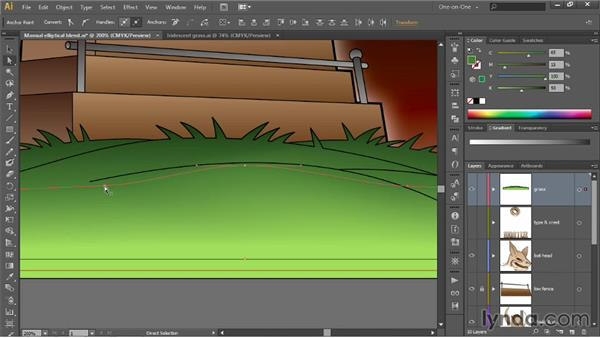 Editing individual blended paths: Illustrator CC 2013 One-on-One: Advanced