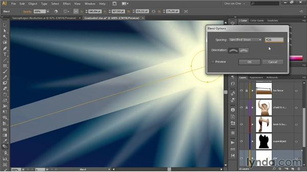 Editing the spine of a blend: Illustrator CC 2013 One-on-One: Advanced