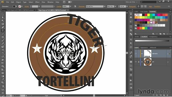 Creating logo type along an open path: Illustrator CC 2013 One-on-One: Advanced