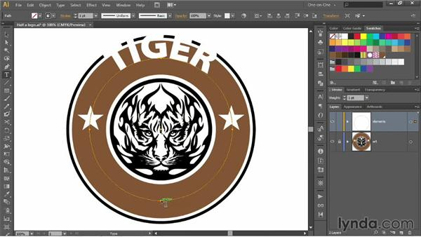 Creating logo type around a closed circle: Illustrator CC 2013 One-on-One: Advanced