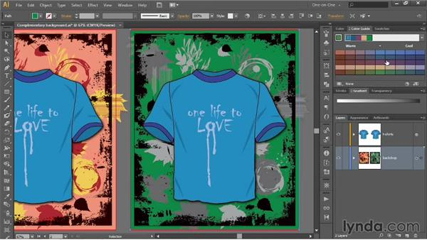Mixing and matching color harmonies: Illustrator CC 2013 One-on-One: Advanced