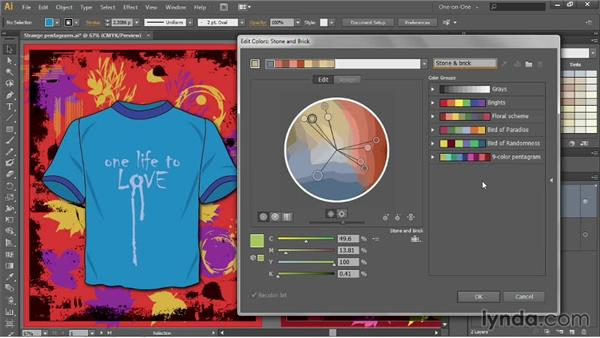 Constraining colors to a predefined library: Illustrator CC 2013 One-on-One: Advanced