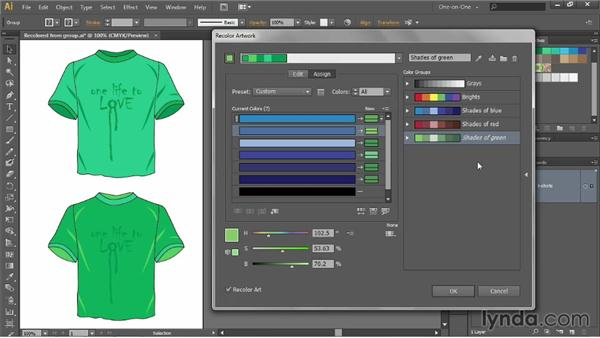 Changing the color-assignment order: Illustrator CC 2013 One-on-One: Advanced