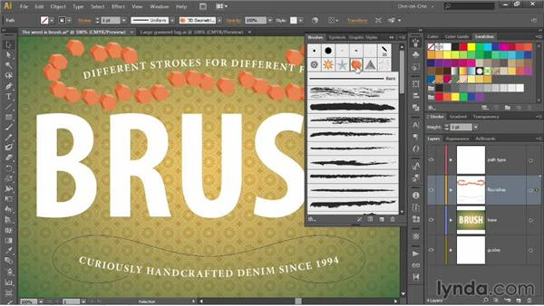 Introducing the Brushes panel: Illustrator CC 2013 One-on-One: Advanced