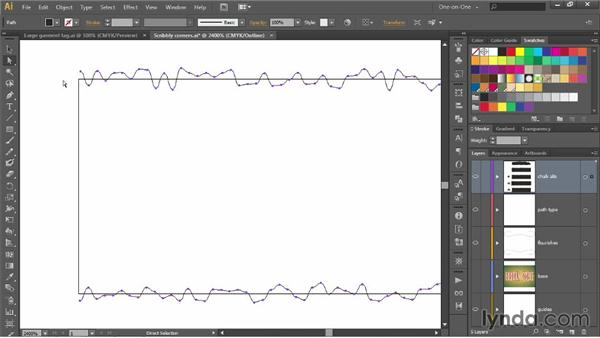 Refining a brush to fit ends and corners: Illustrator CC 2013 One-on-One: Advanced