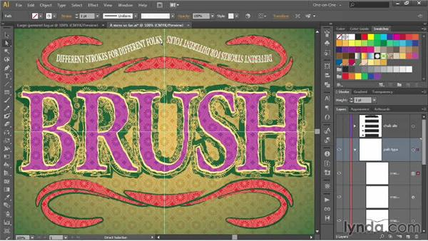 Distorting text with the Width tool: Illustrator CC 2013 One-on-One: Advanced